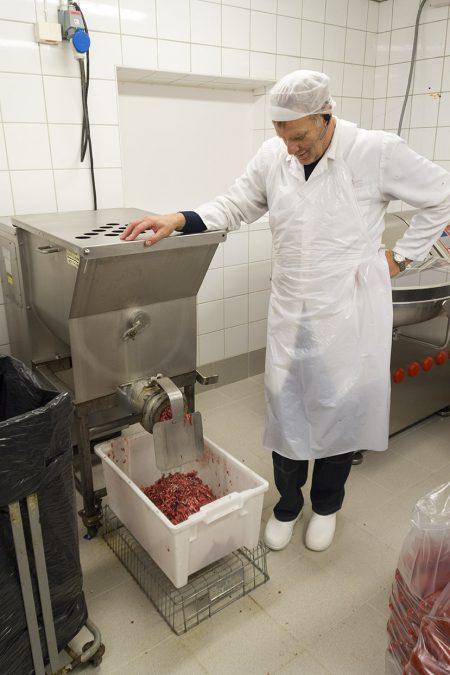 Elg kjøttdeig produksjon